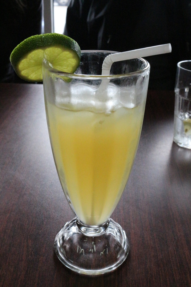 Starting off with a fresh calamsi juice, a type of Filipino lemonade